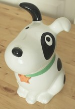 Target Spot the Dog Bullseye Ceramic White Black Puppy Cookie Jar Canister - $29.95