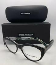 Dolce & Gabbana Brille Dg 3246 3151 51-18 Schildkröte auf Bunten Blumen