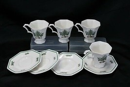 Nikko Christmastime Cups and Saucers 4 each - $45.07