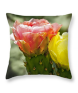 Cactus Pink and Yellow, Throw Pillow, fine art,... - $41.99 - $69.99