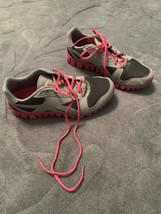 Reebok Athletic Sneaker Gray Charcoal and Pink Size 6-1/2 Worn only 2-3 ... - $26.99