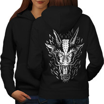 Beast Dragon Art Horror Sweatshirt Hoody  Women Hoodie Back - $21.99+