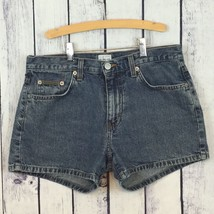 CK Calvin Klein Medium Denim Jeans Shorts 5 Pocket MOM high rise Junior'... - $12.99
