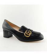 New GUCCI Size 11 Black MARMONT GG Fringe Loafer Pump Heels Shoes 42 Eur - $749.00