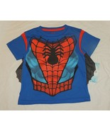New Marvel Toddler Spiderman Shirt This is Hero Face Size 3T Cotton - $11.87