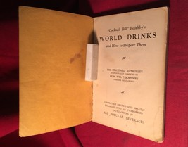 "BOOTHBY'S WORLD DRINKS - Prohibition - by the ""Godfather"" of The Mixed D... - $735.00"