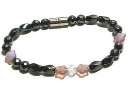 Beaded Bracelet Magnetic Hematite Clasp Single Strand   7 Inch   (MAG-023) image 1