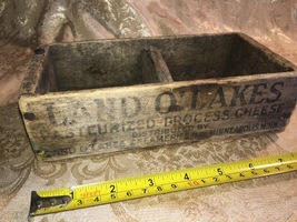 Vintage Primitive 1920s Land O' Lakes Wooden Cheese Box Minneapolis Minn... - $34.99
