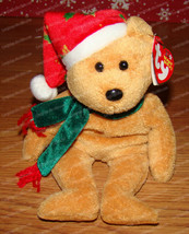Retired Ty Beanie Babies, 2003 Holiday Teddy (P.E. Pellets) December 25, 2003 - $9.90