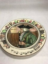 Vintage Royal Doulton Plate THE DOCTOR 10.5 inch D6281 England collector wall - $39.59