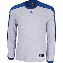 Adidas Men's Team Speed Shooting Shirt , Gray|Royal Blue, S - $39.99