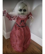 Haunted Halloween Prop Animated Roaming Doll w/Light-Up Eyes, Sounds, Ph... - $296.99