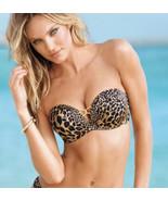 Victorias Secret 34C Bikini BOMBSHELL TOP Multi-way  Adds 2 Cups Leopard... - $98.01