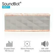 SoundBot SB571 Bluetooth 3.0 Wireless Speaker Hands Free Calling MBL/WHT - $56.98