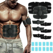 12PCS ABS Stimulator Gel Pads Replacement for Muscle Toner for Abdominal - £9.37 GBP