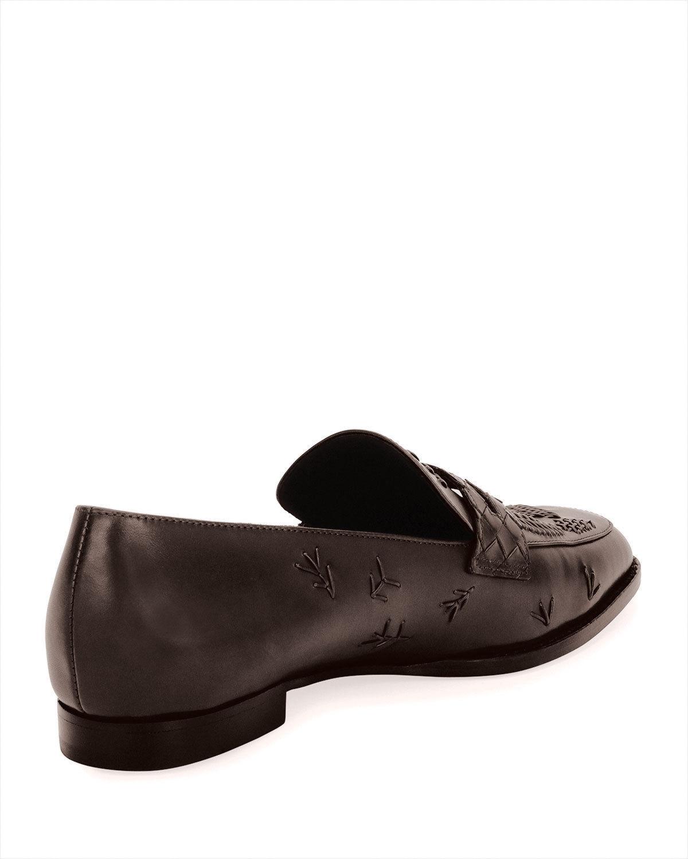 Bottega Veneta Stitched Slip-On Leather Penny Loafer 38.5 MSRP: $990.00
