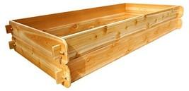 Timberlane Gardens Raised Bed Kit Double Deep, Western Red Cedar Mortise Tenon J - $149.99