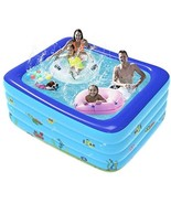 Inflatable Swimming Pool Thickened Square Pool for Summer Outdoor Family - $80.00