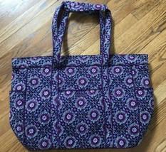Vera Bradley GET CARRIED AWAY TOTE Lilac Medallion CarryOn Weekender Bag... - £54.76 GBP
