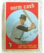 Norm Cash RC 1959 Topps Batting Pose Rookie Card#509 VG++-White Sox 1B RC - $49.49