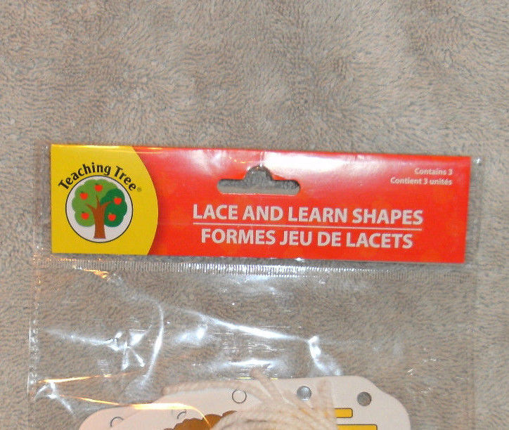 NEW IN PACKAGE TEACHING TREE LACE & LEARN SHAPES TRUCKS