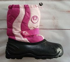 Kamik Rocket Youth Girls Snow Boots Size 4 Pink Waterproof Insulated Winter - $18.74