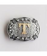 Original Western Initial Letter T Belt Buckle Gurtelschnalle also Stock ... - $9.89