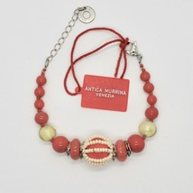 Bracelet Antica Murrina Venezia with Murano Glass Red Coral BR742A25 image 1