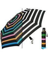 Color Changing Umbrella STRIPE Super Mini 44 Inch Auto Open Close Rain w... - $31.00