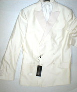 New NWT 50 Mens Sport Coat Jacket Blazer 40 Italy Valentino Cream White ... - $1,000.00