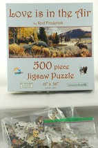SunsOut Jigsaw Puzzle Love Is In The Air Rod Frederick Moose Mating 500 pcs - $12.13
