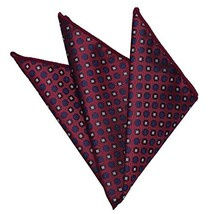 Jacquard Men's Pocket Square - Handkerchiefs Fashionable (Dark Red Geome... - $12.77