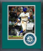 Dee Gordon 2018 Seattle Mariners Action-11x14 Team Logo Matted/Framed Photo - $43.95
