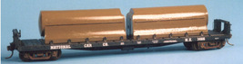 Funaro & Camerlengo HO Twin Tank Milk Car flatcar series w/entended ball tanks   image 3