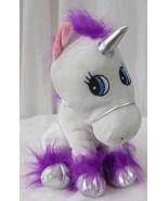 """Six Flags UNICORN Plush White Purple 11"""" Stuffed Animal - $12.86"""