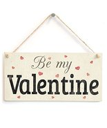 Meijiafei Be my Valentine - Super Cute Unique Valentine's Day Gift Plaque For Gi - $12.86