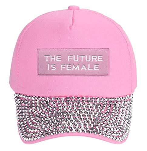 The Future Is Female Hat - Adjustable Women's Cap Style Color Options (Pink Rhin