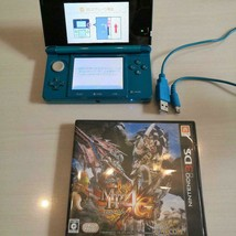 Nintendo 3DS Color  Aqua blue with MH4g software Used - $82.50
