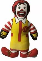 "Ronald McDonald Plush 11"" McDonald's Promo Cloth Stuff Clown Doll - $12.82"