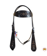 Hilason Western Horse Headstall Bridle American Leather Brown Hilason U-... - $63.35
