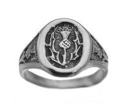 New Scottish Celtic Thistle Ring Sterling silver 925 Irish Jewelry Pick ... - $42.20