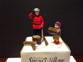 "Dept 56 Retired ""Woodsman & Boy"" #51306 In Original Box - $12.49"