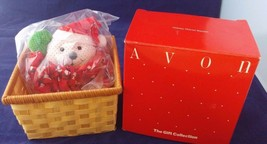 Avon the gift collection Holiday Mouse Basket, Christmas Decoration - $7.69