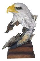 StealStreet SS-G-54153 Bald Eagle Head & Bust Statue with Feather on Woo... - $29.65