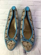 Coach Womens Sz 7.5 Talia Signature Logo Point Toe Slip On Flats Shoes B... - $63.11