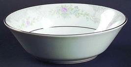 """Lenox """"Rosamond"""" 5 5/8"""" Fruit-Dessert-Sauce Bowl New White-Pink Flowers-... - $14.15"""