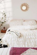 Urban Outfitters Waterfall Ruffle Duvet Cover T... - $74.50