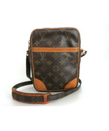 Authentic LOUIS VUITTON Monogram Canvas Leather Danube Cross Body Bag - $299.67
