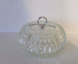 Vintage Antique Cut Glass Candy Dish Potpourri Trinket Business Card Holder - $10.00