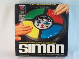 Simon 1979 Electronic Game Lights & Sounds Simon Says Milton Bradley Bilingual - $28.59
